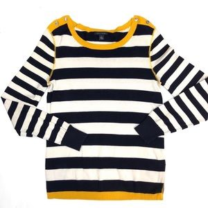 Tommy Hilfiger Boat Neck Sweater Small Buttons
